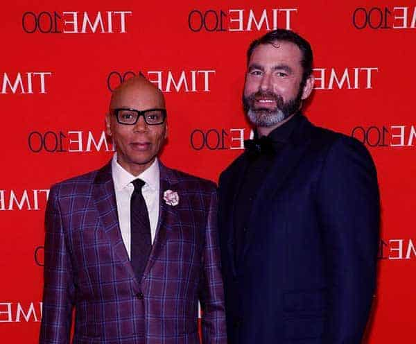 Image of Georges Lebar with his partner RuPaul