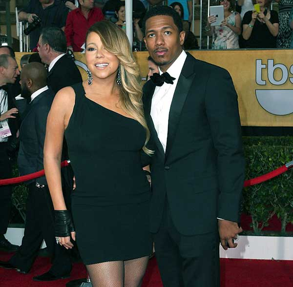 Image of Mariah Carey with her ex-husband Nick Cannon