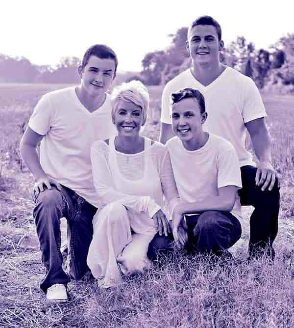 Image of Terri Carrington with her three sons