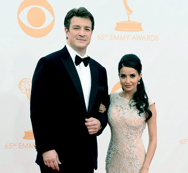 Image of Nathan Fillion And Mikaela Hoover in 65th Emmy Awards