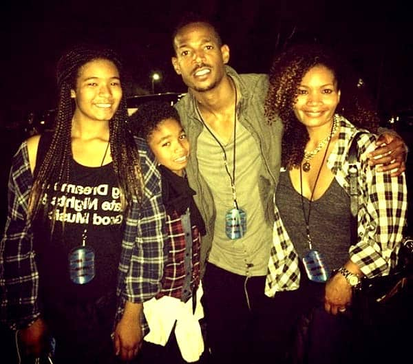 Image of Angelica Zachary with her ex-husband Marlon and with their two kids Amai Zackary Wayans (daughter) and Shawn Howell Wayans (son)