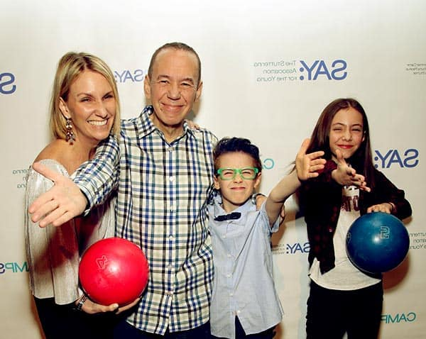 Image of Gilbert Gottfried with his wife Dara Kravitz and with kids Lily Aster Gottfried (daughter) and Max Aaron Gottfried (son)