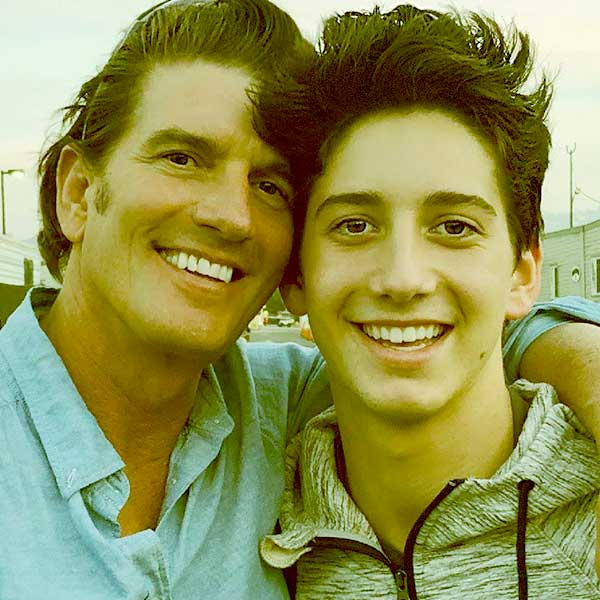 Image of Jeffrey Brezovar with his son Milo Manheim