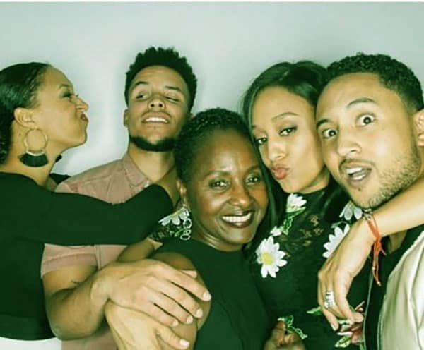 Image of The famous Mowry siblings all caught in a frame