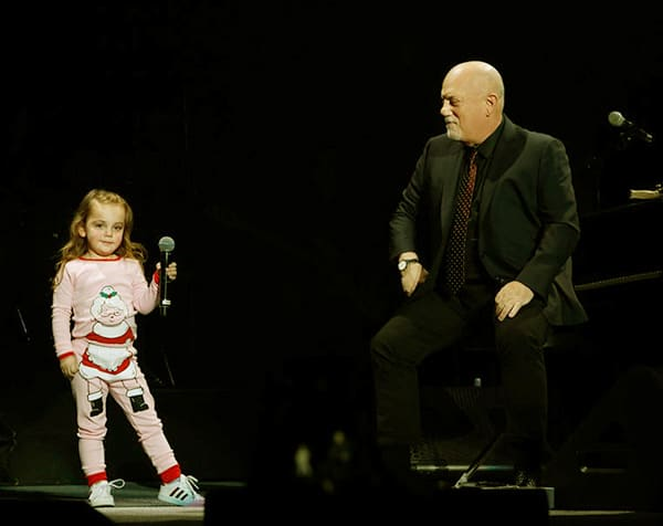 Image of Billy Joel's Daughter Della Rosa Joins her Dad On stage
